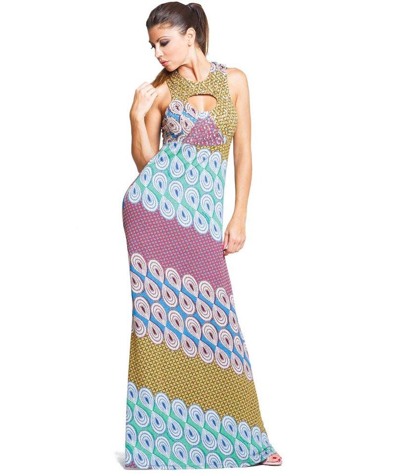 Studs Dress - Masai Blu