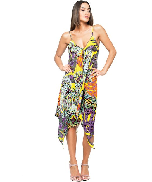 FOGLIE SHORT DRESS 3709