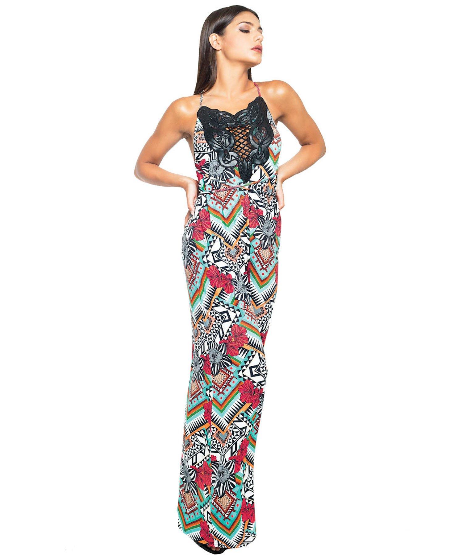 SCUDI LONG DRESS 3715 - Scudi Rosso