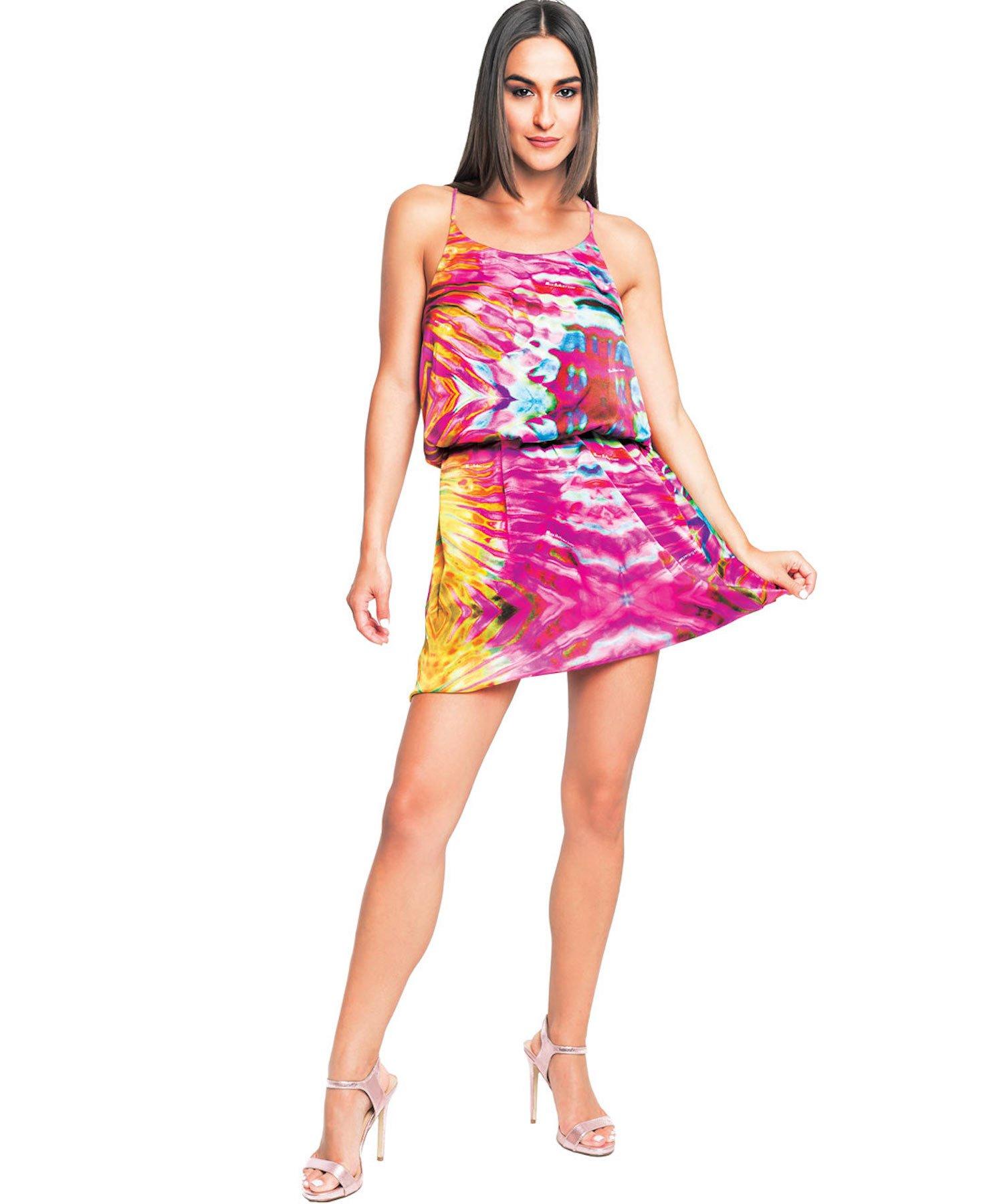 TRAPEZE DRESS 3742 - Riflessi Rosa
