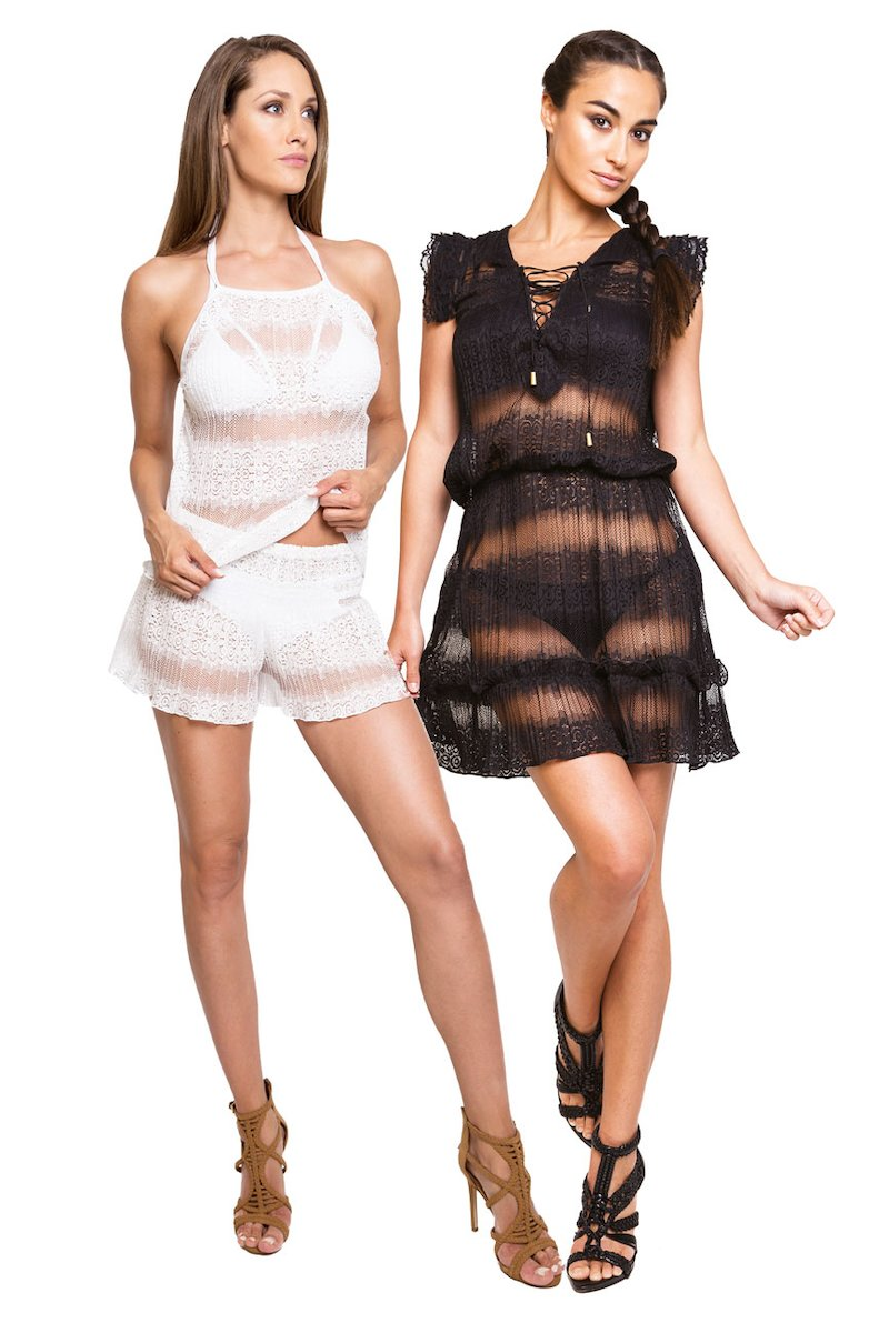 SHORT LACE DRESS - Gradisca Bianco