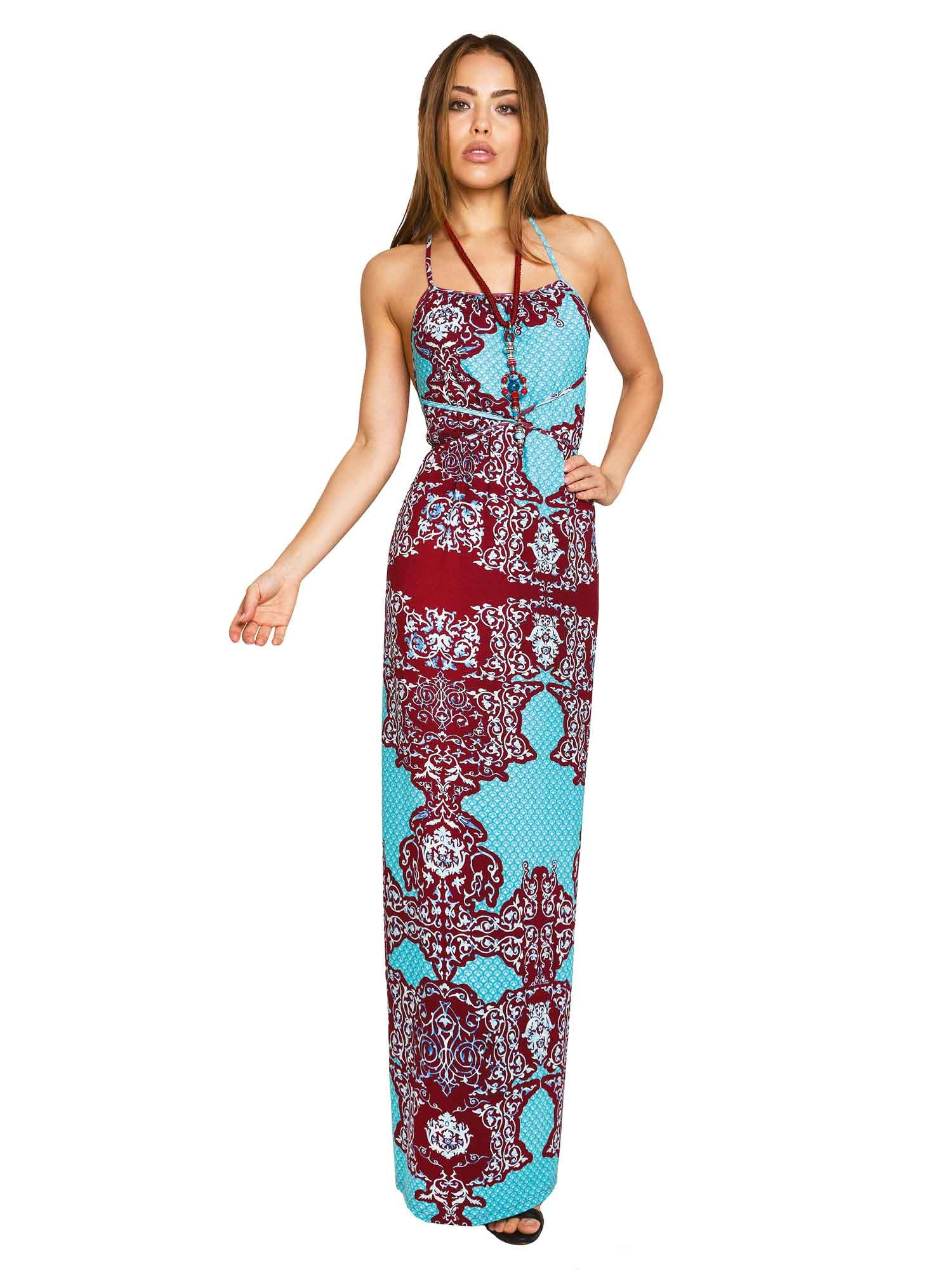 LONG DRESS - India Turchese