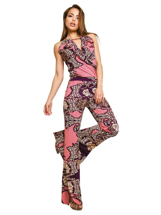 JUMPSUIT VOLANT NECK