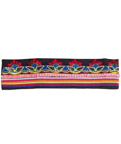 embroidery belt - Black