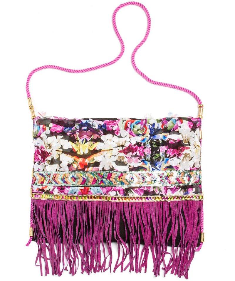 borsa fiorellini e passamanerie - Frida Nero