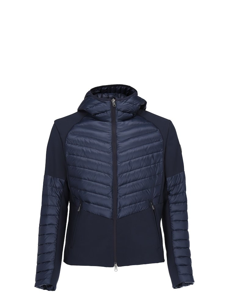 Down Jacket With Inserts