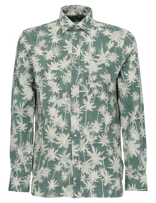 Printed Palm Shirt
