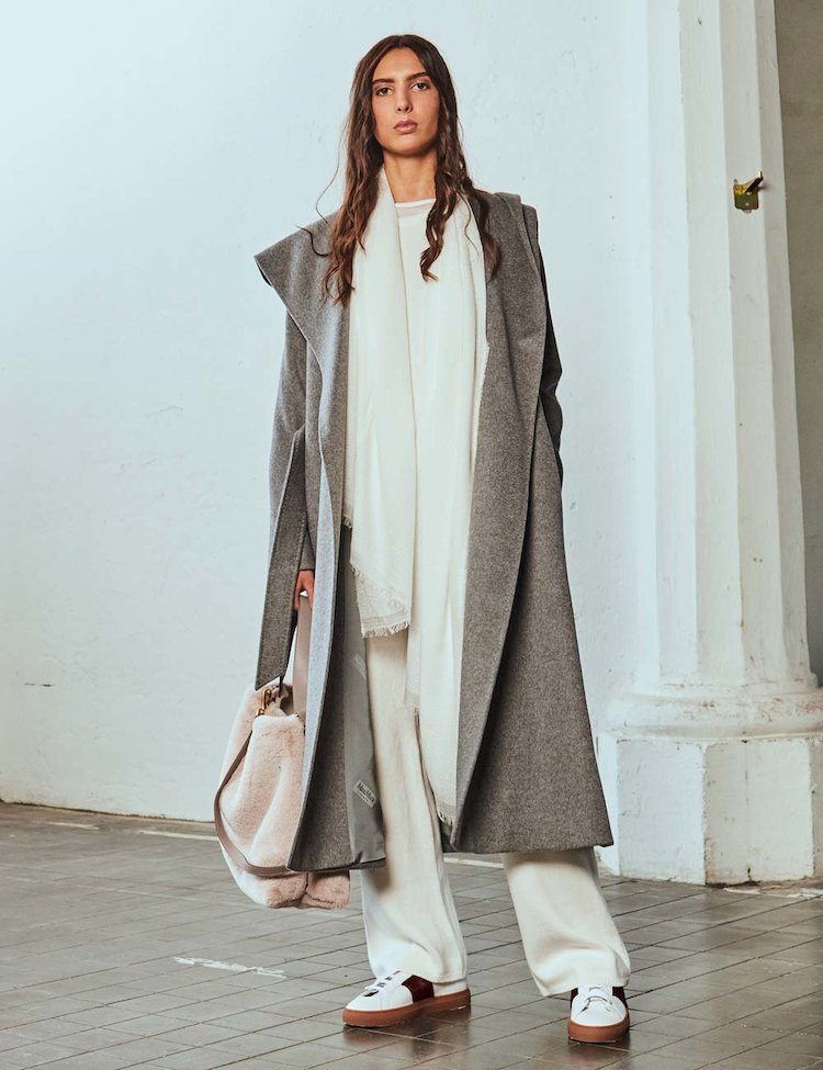 Cachemere Hooded Coat