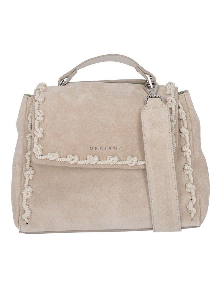 Beige Leather Bag