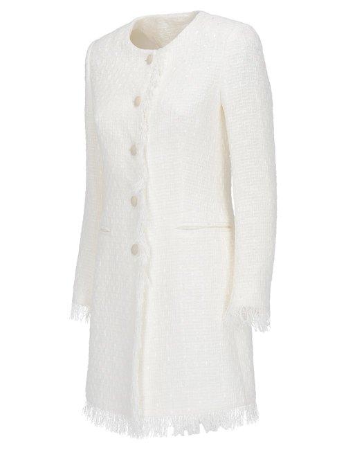 Giacca Lunga In Tweed