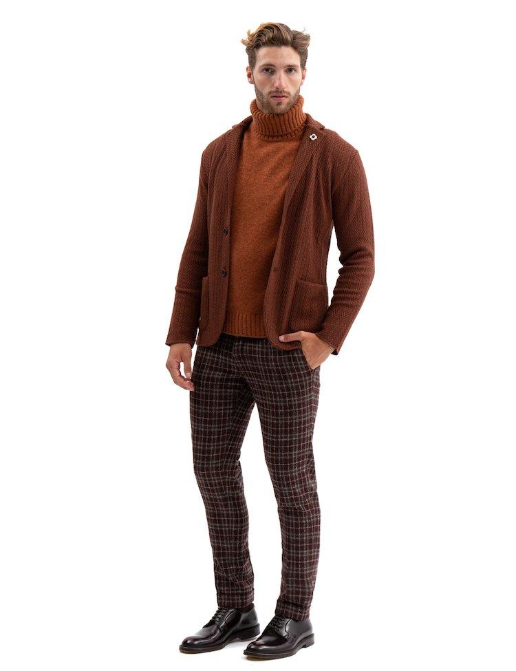 Intarsia Wool Blazer