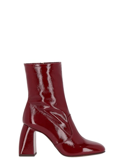 Patent Leather Heeled Boots