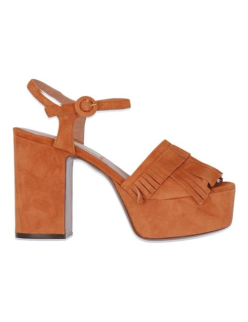 Suede Fringed Sandals