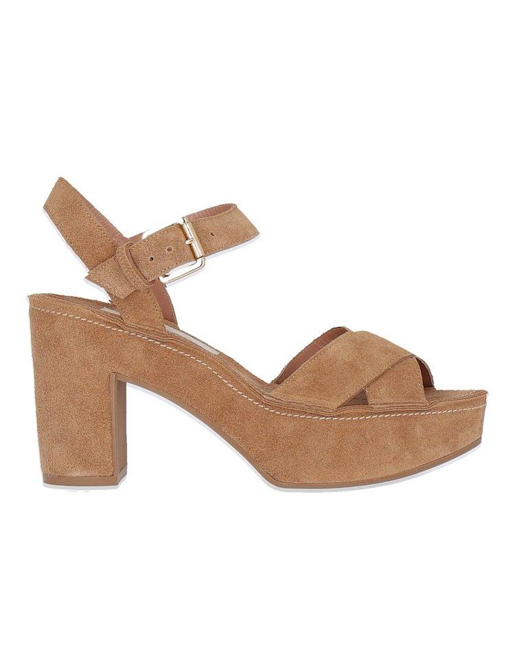 Heeled Suede Sandals
