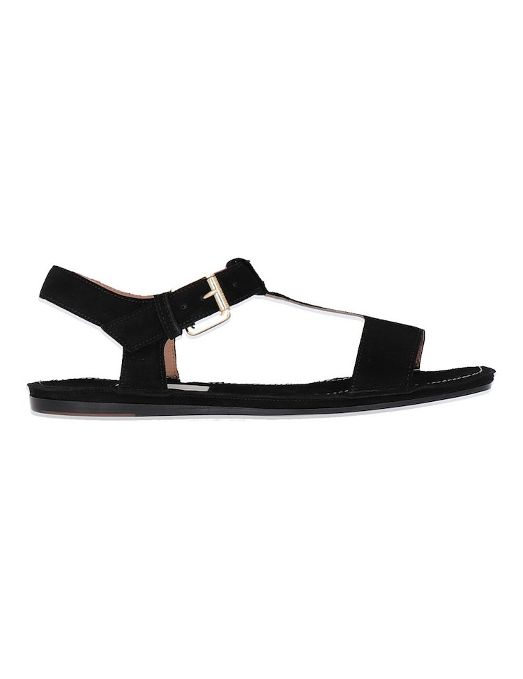 Suede Flat Sandals