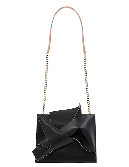 Large Bow Leather Shoulder Bag