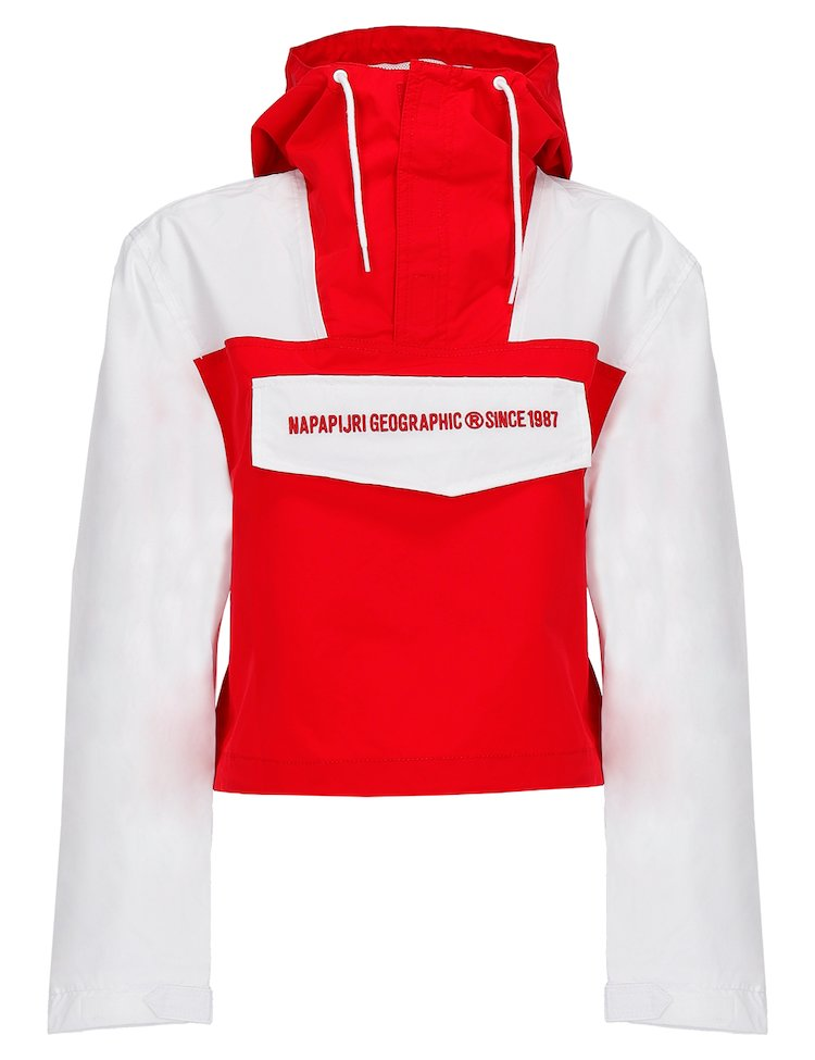Waterproof Red And White Jacket