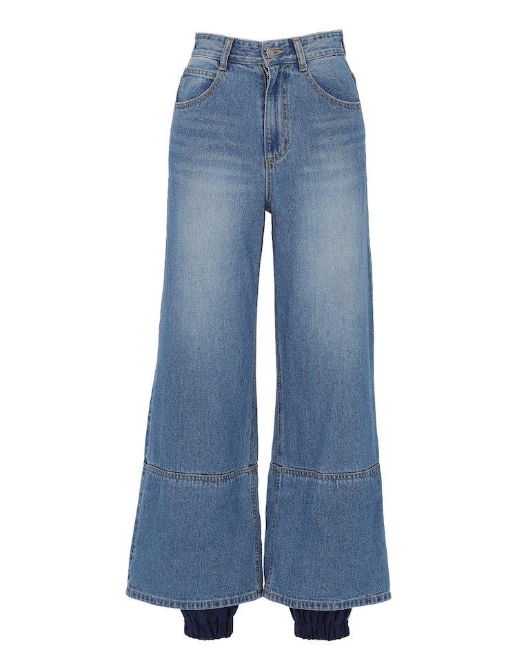 Pantaloni In Denim Con Dettaglio