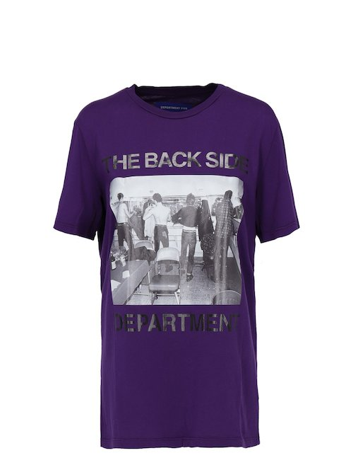Purple Cotton T-Shirt With Print