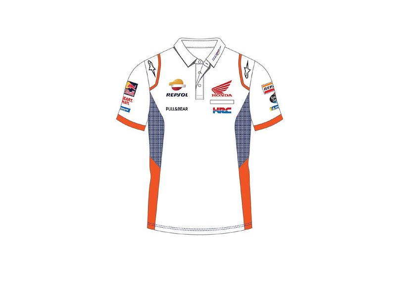 Polo White Repsol Teamwork