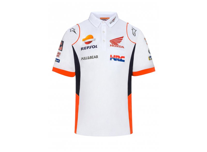 Polo shirt Repsol Honda Replica 2021 Blanc - White