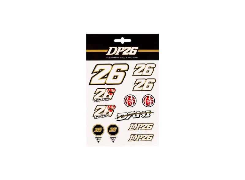 Dani Pedrosa Gold Stickers
