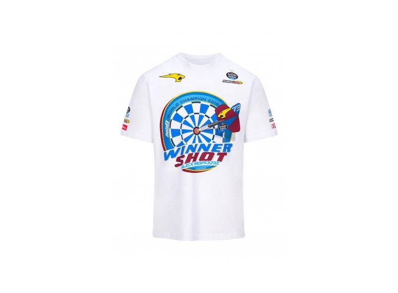 VALENTINO ROSSI VR46 Moto GP Riders Academy Logo T-Shirt Noir Officiel 2019