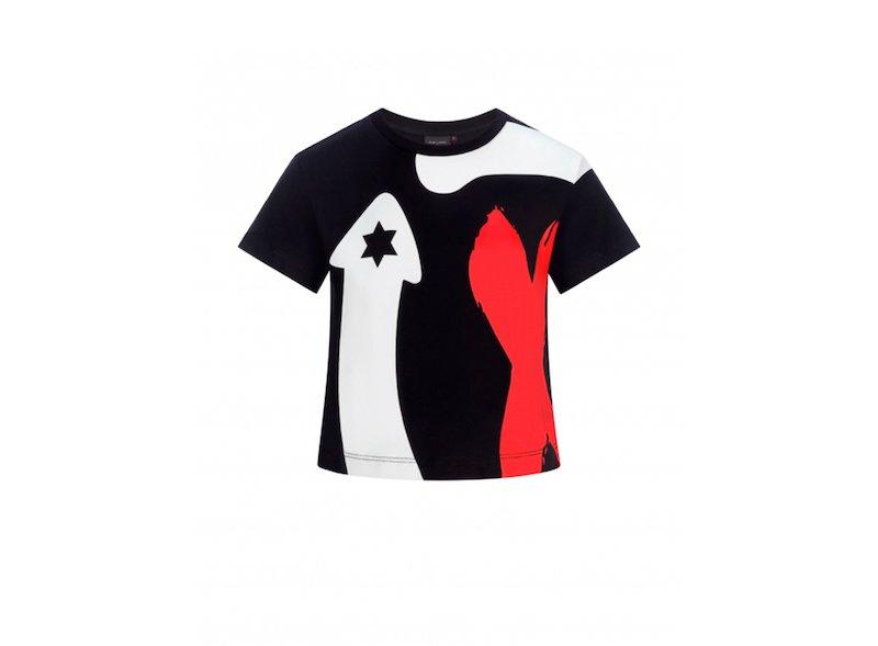 Maglietta ritagliata con il logo Jorge Lorenzo
