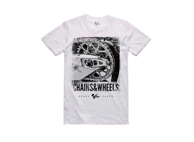 T-Shirt MotoGP Chains & Wheels - White