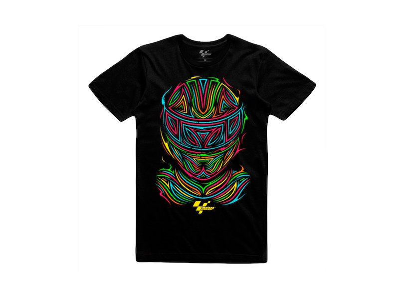 Camiseta Tribal Casco fluor MGP - Black