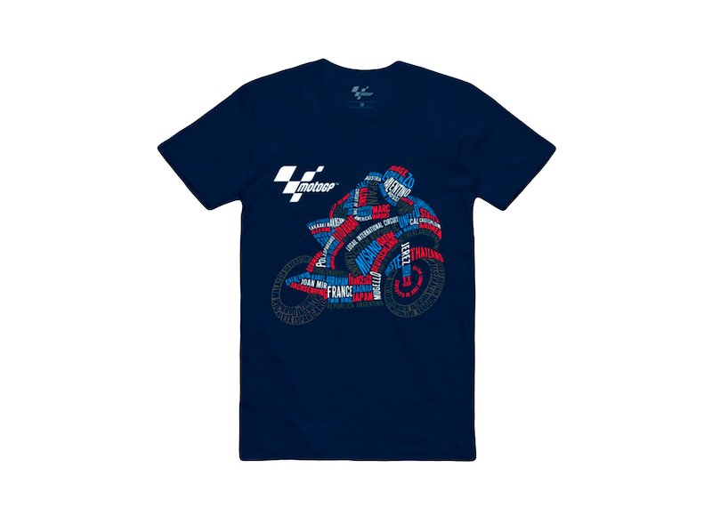 T-Shirt MotoGP Bikebrands - Blue