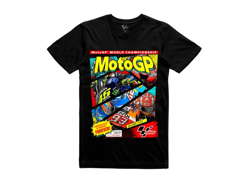 MotoGP™ T-shirt Comic Boom - Black