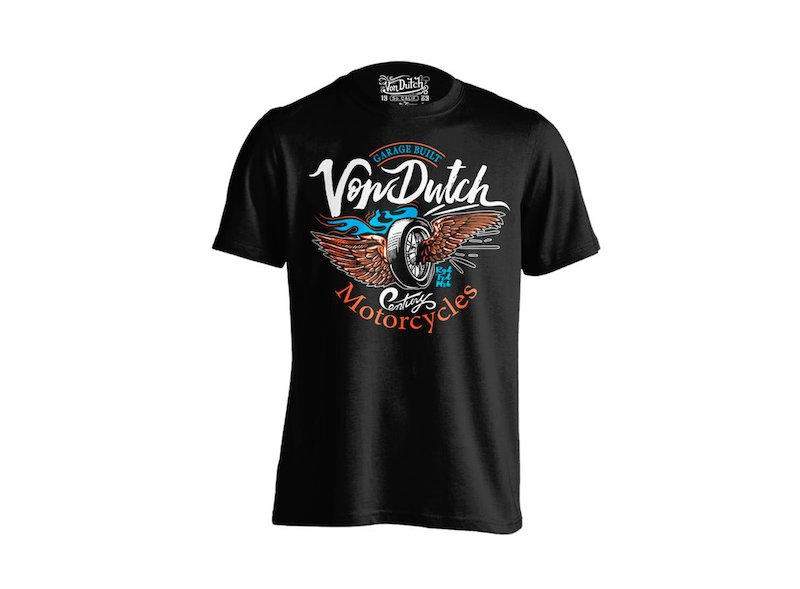 T-shirt Von Dutch Motorcycles - Black