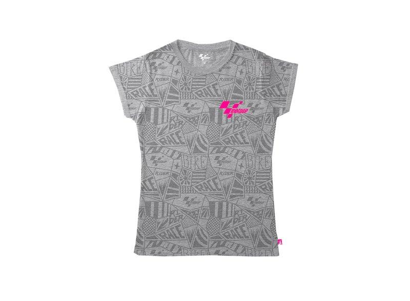 T-shirt  MotoGP™ Pattern gris femme