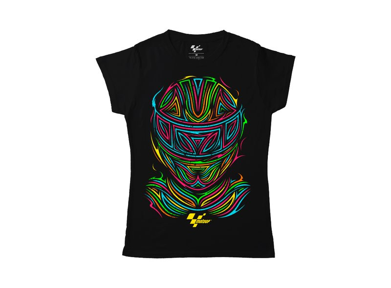 Women's MotoGP™  t-shirt Tribal Helmet - Black