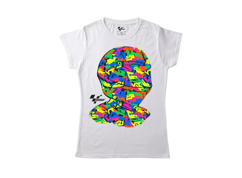 Camiseta MotoGP™ Mujer Casco - White