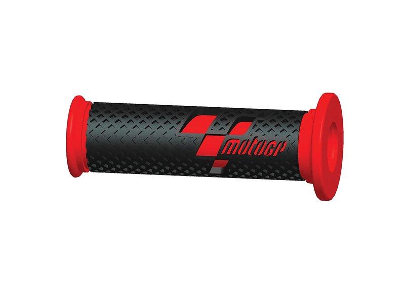 Poignées de course MotoGP™ Premium Gris-Rouge