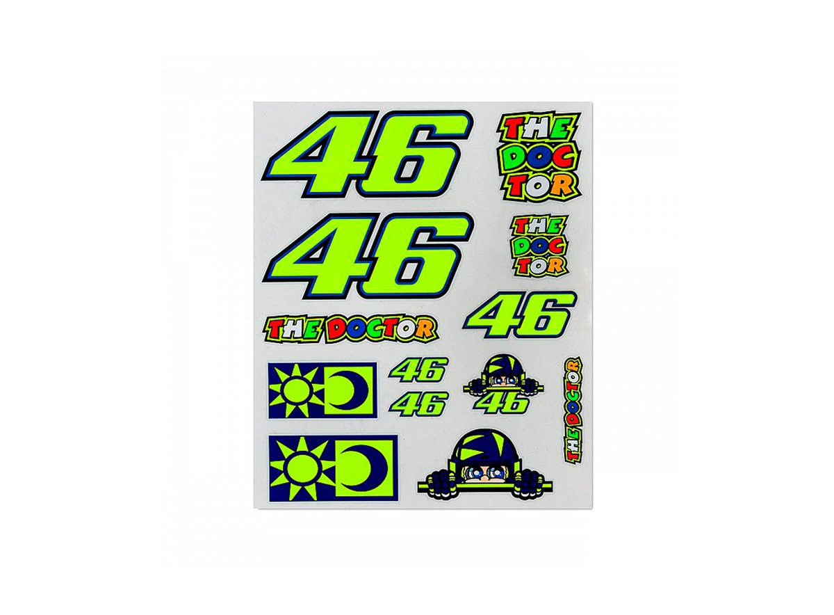 Large set of rossi 46 stickers white