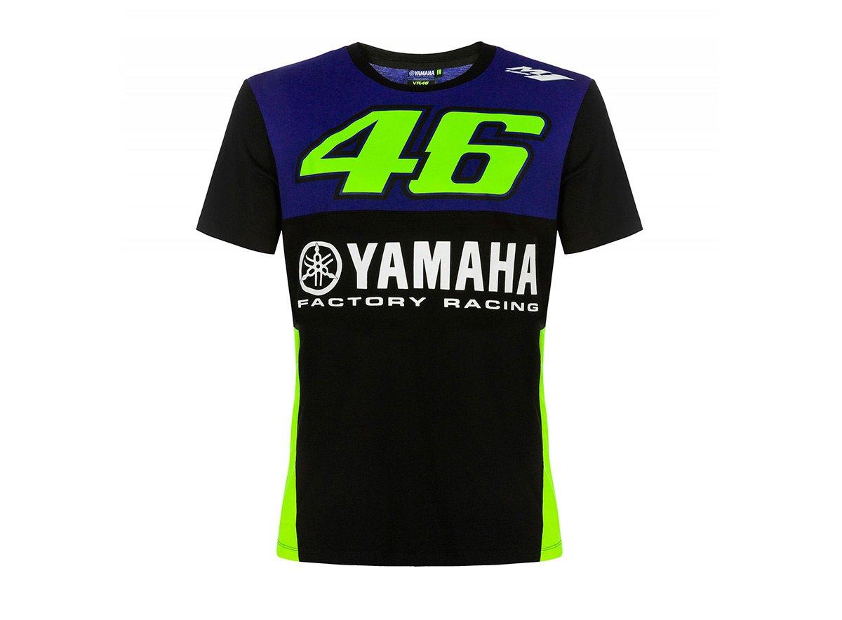 Valentino Rossi VR46 Moto GP M1 Yamaha Factory Racing Team Camiseta Oficial Nuovo