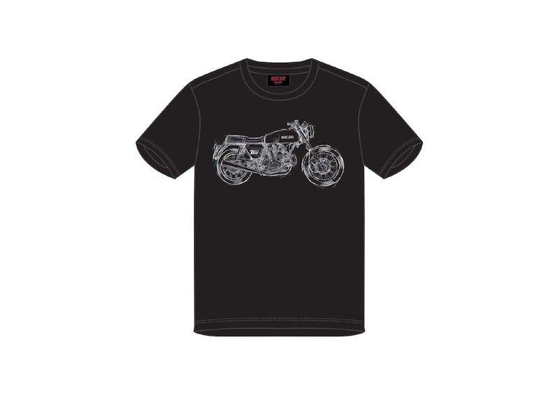 Maglietta Ducati 750 GT T-Shirt - White