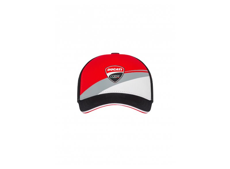 Tricolor cap with Ducati patch - White