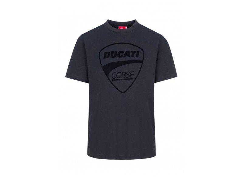 T-shirt Tonal Logo Ducati Corse - Black