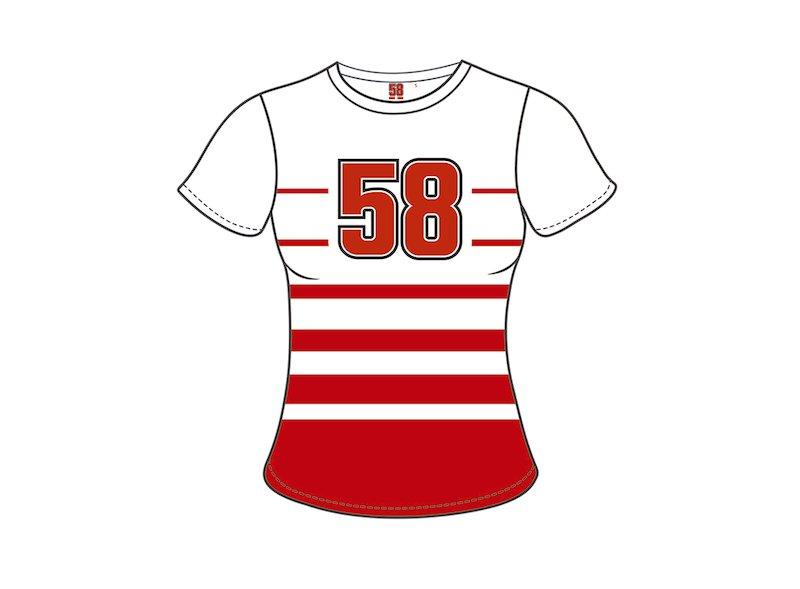 Maglietta Donna 58 Marco Simoncelli 58 - White