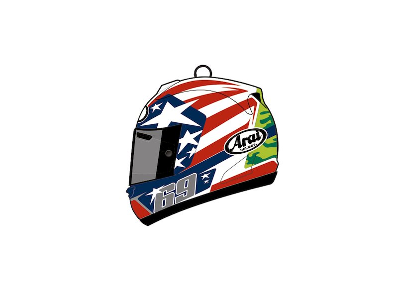Nicky Hayden helmet key ring