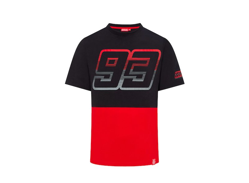 Marc Marquez 93 camiseta contrast - White