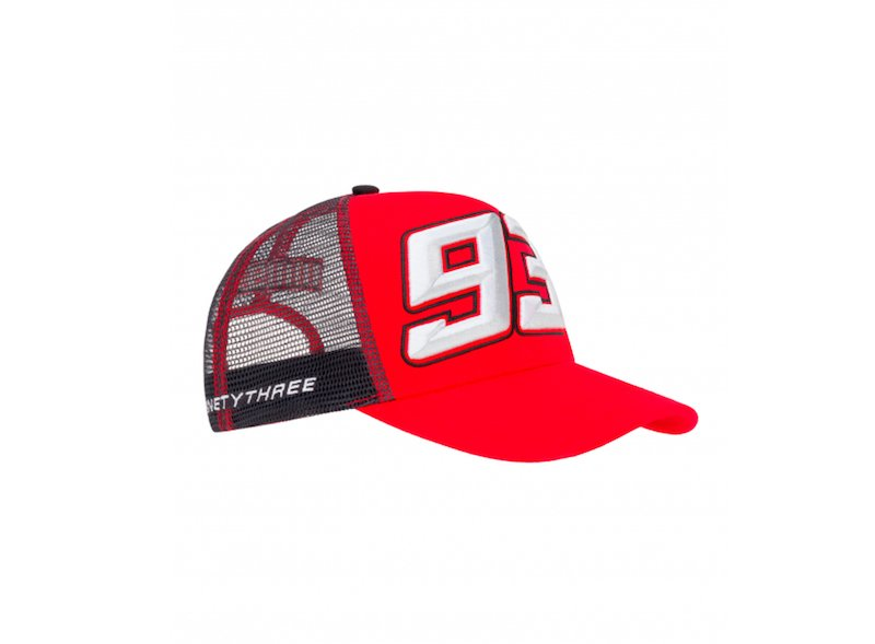 93 Marquez Gray and Red Cap - White