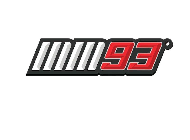 Marquez 93 Metal Keyring