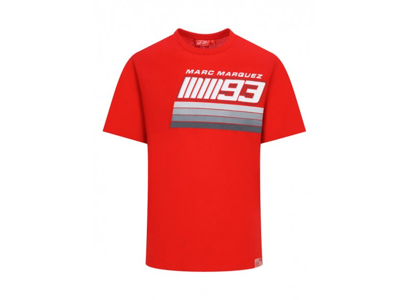 Camiseta Marquez 93 Stripes - Red