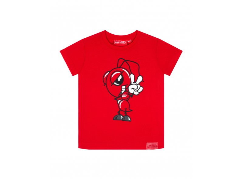 T-shirt Ant 93 Kid - Red