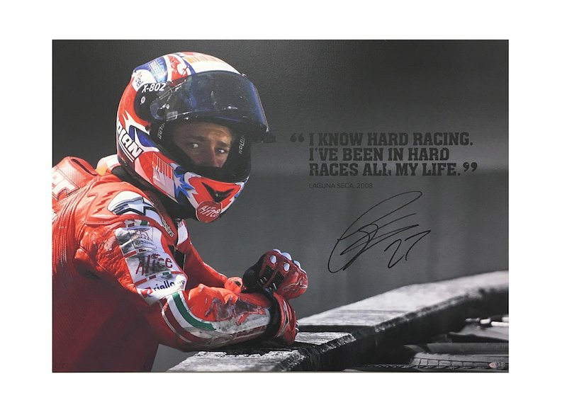 Casey Stoner - Foto  Hard Racing on Canvas - White